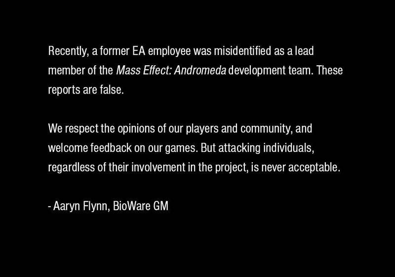 Photo of BioWare опровергла причастность косплеера к ведущим разработчикам Mass Effect Andromeda