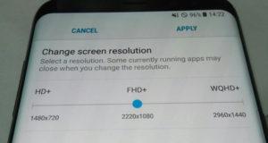 Samsung Galaxy S8 по умолчанию имеет разрешение экрана 1080p