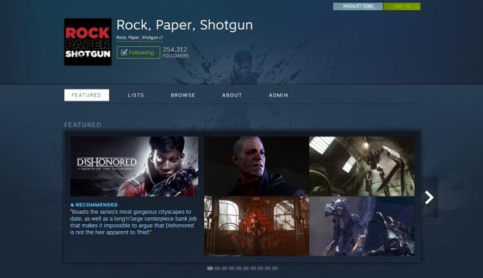 Valve запускает обновлённую систему кураторов в Steam, чтобы вам было приятнее изучать ассортимент магазина