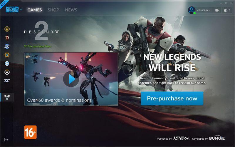Обновление Battle.net с возможностью отображаться оффлайн доступно в бете