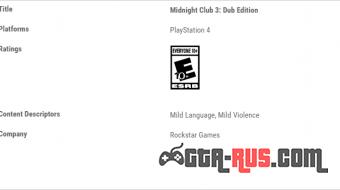 На PlayStation 4 могут появиться четыре классические игры Rockstar.