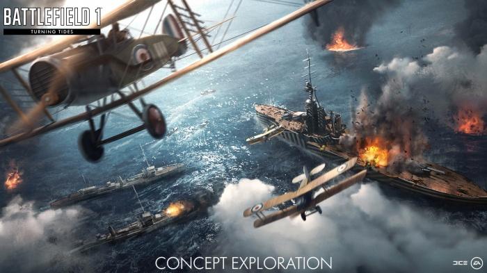 Подробнее о дополнении Battlefield 1 «Волны перемен» с британцами и морскими сражениями