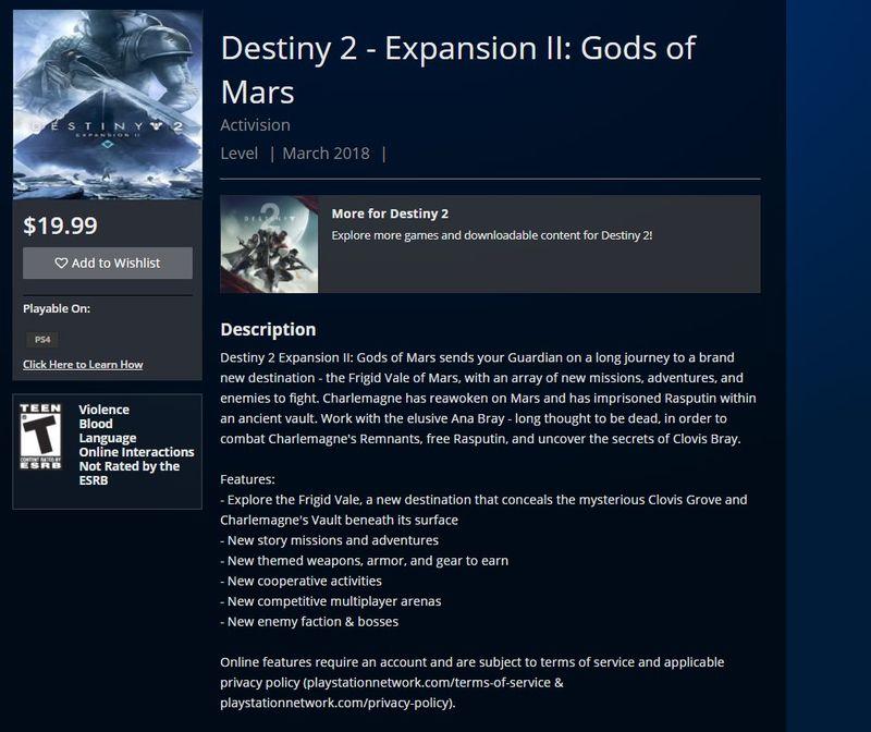 Photo of Второе дополнение Destiny 2 называется Gods of Mars и включает новую фракцию врагов