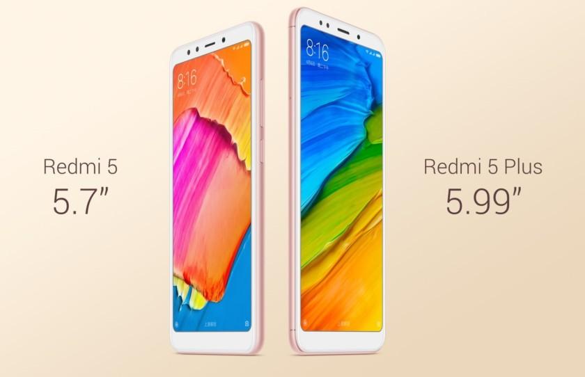 Photo of Xiaomi Redmi 5 и Redmi 5 Plus: бюджетные полноэкранные смартфоны