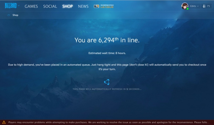 Открывшиеся предзаказы на Battle for Azeroth обрушили серверы World of Warcraft и Battle.net