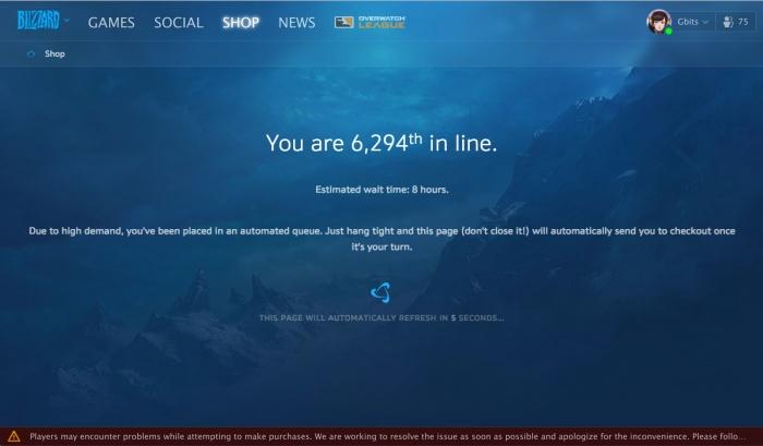 Photo of Открывшиеся предзаказы на Battle for Azeroth обрушили серверы World of Warcraft и Battle.net