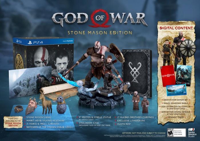 Photo of В комплект коллекционного издания God of War войдут статуэтка Кратоса и брелок в виде говорящей головы