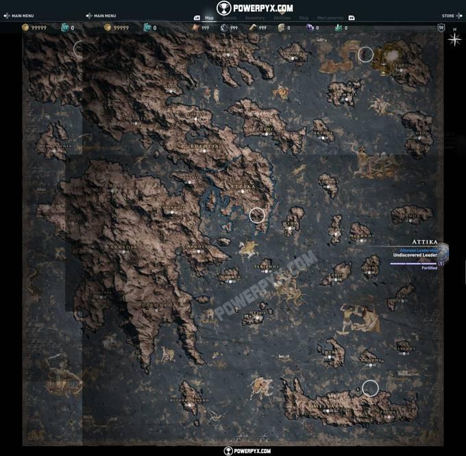 Photo of Вот так выглядят карта мира и древо умений из Assassin's Creed Odyssey