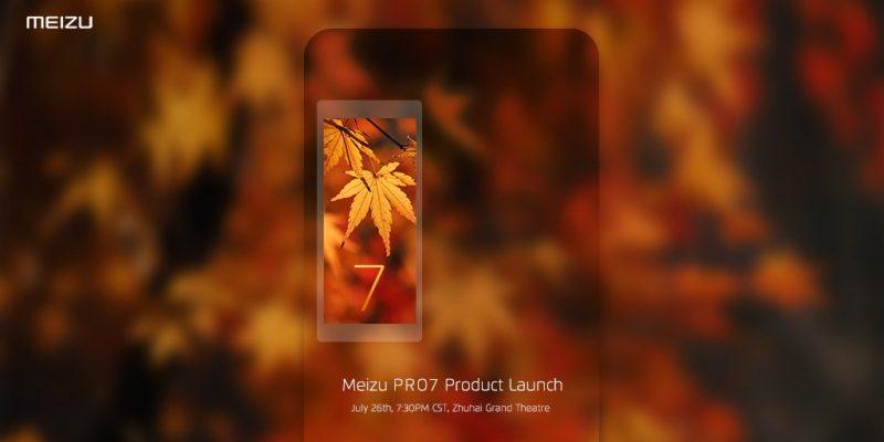 Появилось официальное изображение Meizu Pro 7 с датой запуска