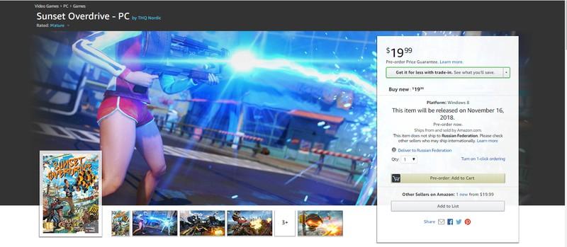 Photo of Amazon открыл предзаказ PC-версии Sunset Overdrive — и огласил дату релиза