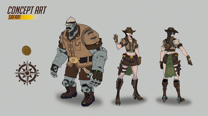 Photo of Blizzard опубликовала концепт-арты Элизабет Эш из Overwatch