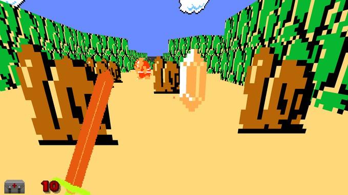 Photo of Моддер переделал классический Doom в The Legend of Zelda