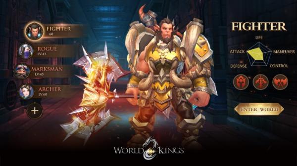 В App Store и Google Play вышла World of Kings — масштабная MMORPG с PvP и подземельями12