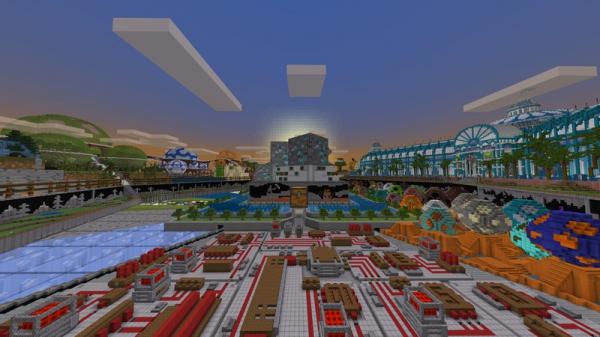 В Minecraft появилась юбилейная карта-музей0