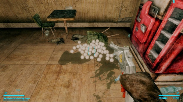 Моддер добавил в Fallout: New Vegas револьвер, стреляющий бейсбольными мячами3