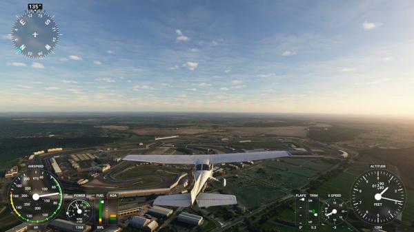 Photo of Первый взгляд на интерфейс Microsoft Flight Simulator на скриншотах альфа-версии