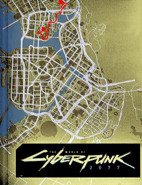Photo of Путь Ви из демо Cyberpunk 2077 наложили на карту города