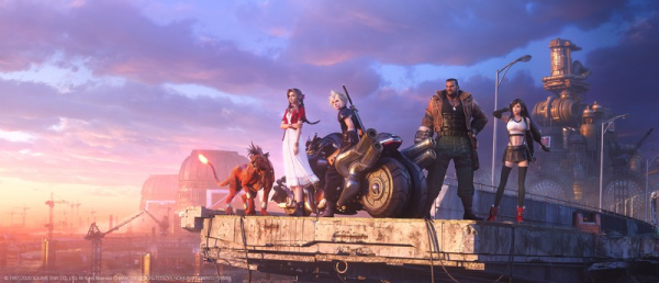 Photo of Ключевой арт с главными героями ремейка Final Fantasy VII