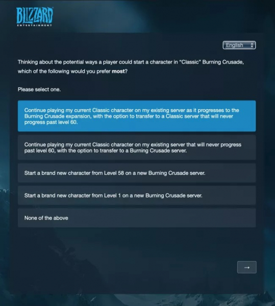 Photo of Blizzard опрашивает игроков WoW Classic о потенциальном релизе The Burning Crusade Classic