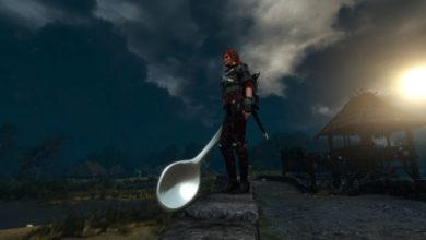 Photo of Для The Witcher 3 вышел комичный мод с гигантской ложечкой